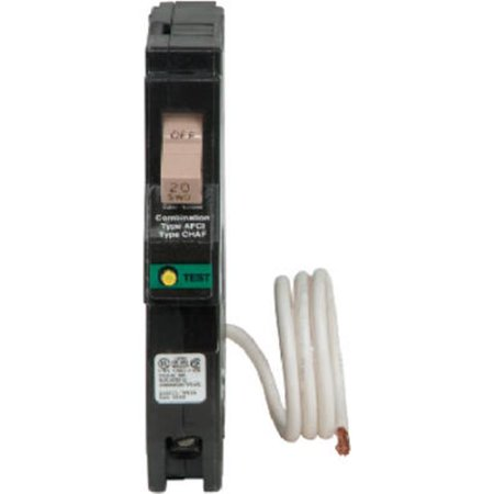 CHFCAF120 Circuit Breaker, Combo Arc Fault With Trip Flag Indicator, 1 Pole, Type CH, 20-Amp - Quantity 1 (Type Q Circuit Breaker)