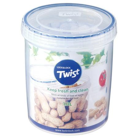 Lock & Lock Easy Essentials Twist Food Storage Container, 34-Ounce Print Twist Lock