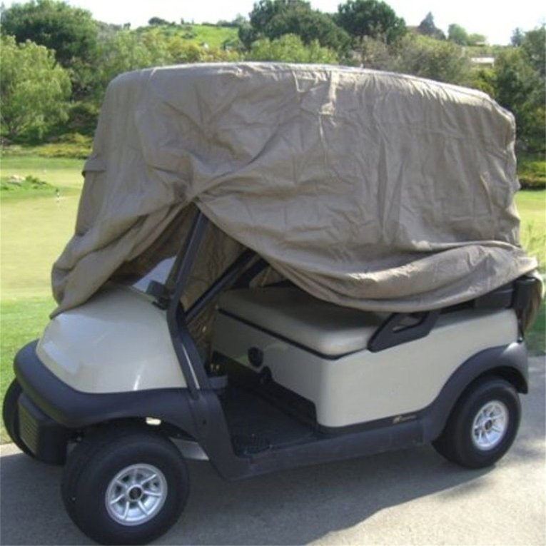 Waterproof 4 Passengers Car Detector Golf Cart Storage Cover For EZ Go Club Car Taupe for Passenger Car Club on sale
