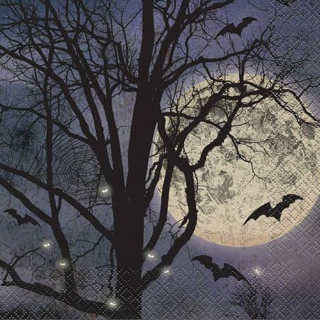 Halloween Night Events Denver (Spooky Night Halloween Paper Luncheon Napkins, 6.5in,)