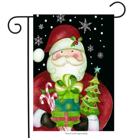 Here Comes Santa Christmas Garden Flag Presents 12.5