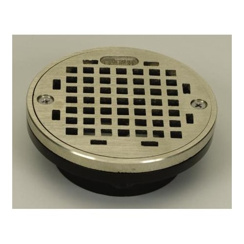 "PROFLO PF42820 2"" or 3"" PVC Shower Drain with 4"" Stainless Steel Strainer"