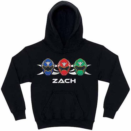 Personalized Power Rangers Super Megaforce Kids' Black Hoodie