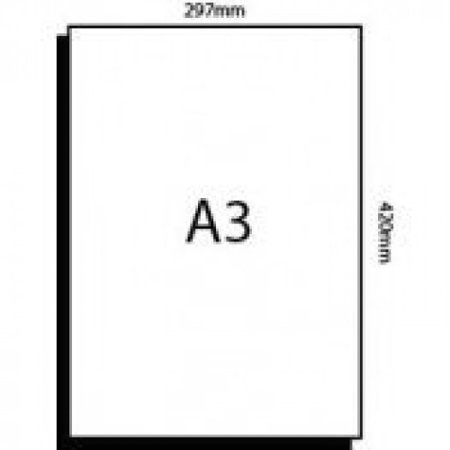 a3 white card stock paper size 11 7 x 16 5 297 x 420 mm