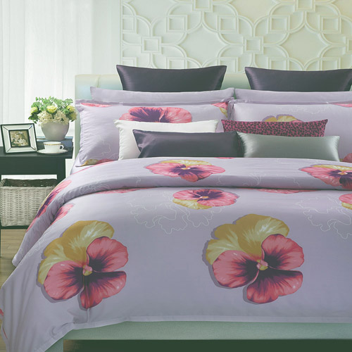 Purple Spring 7-Piece Duvet Cover Set