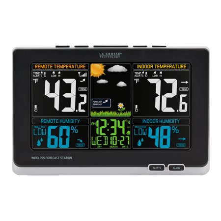 La Crosse 308-1414MB-INT Color Weather Station with In/Out Temperature, Humidity and Mold