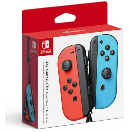 Nintendo Switch Joy-Con Pair, Neon Red and Neon Blue