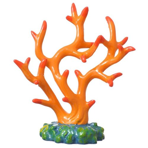 GloFish Coral Aquarium Ornament - Orange 1 Pack