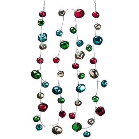 80 colorful festive jingle bell christmas garland unlit walmart com