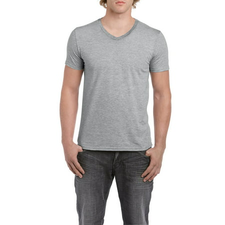 Gildan Mens fitted v-neck short sleeve t-shirt