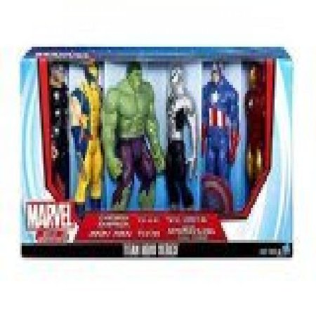 Marvel Titan Hero Series 6 Pack with Armored Spider-Man, Captain America, Iron Man, Hulk, Thor,