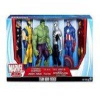Marvel Titan Hero Series 6 Pack with Armored Spider-Man, Captain America, Iron Man, Hulk, Thor, Wolverine