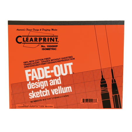 Clearprint Design and Sketch Pad, Isometric Grid, 8.5in x (Design Vellum)