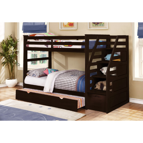 Mack Milo Bodkin Twin Over Twin Bunk Bed With Trundle And Storage