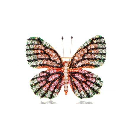 Multicolor Swarovski Element Rhinestone Butterfly Brooch (Swarovski Rhinestone Brooch)