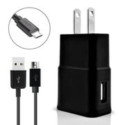 For HTC Desire 626 Cell Phones Accessory Kit 2 in 1 Charger Set [3.1 Amp USB Wall Charger + 3 Feet Micro USB Cable] Black
