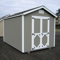 Little Cottage Classic Wood Gable Panelized Storage Shed with Optional Floor Kit