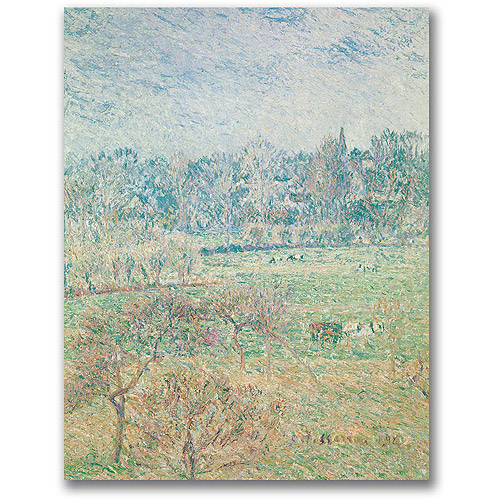 "Trademark Fine Art ""Autumn Morning"" Canvas Wall Art by Camille Pissaro"