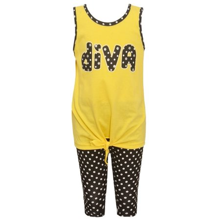 Girls Yellow Dotted
