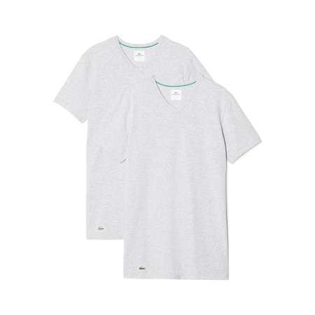 Lacoste Men Tshirts 2 Pack V-neck T-shirt Gray