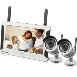 "Swann Video Surveillance System - Monitor, Camera - 7"" LCD - 720p"