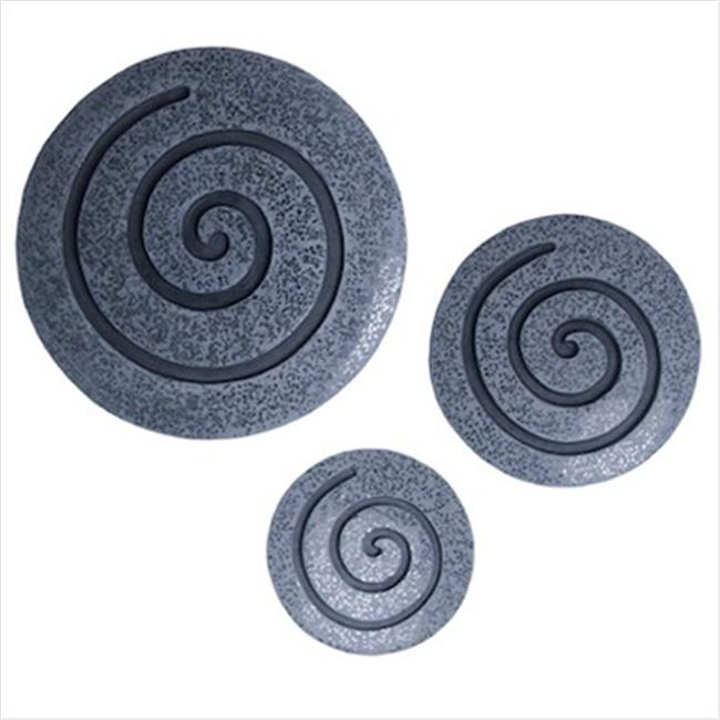 Screen Gems SGS-3677 30 in. x 28 in. Sandstone Fine Polished Round Wall Decor -Pack of 2