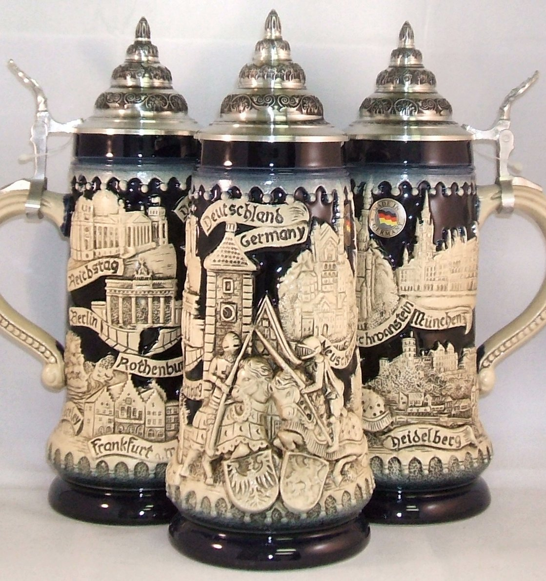 Blue Deustchland German Knights LE Beer Stein .5L Made in Germany ONE Mug New