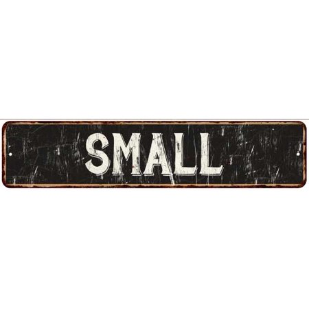 SMALL Street Sign Rustic Chic Sign Home man cave Decor Gift Black (Best Small Man Caves)