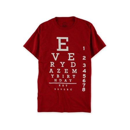 Everydaze My Birthday Mens Eye Chart Graphic T-Shirt