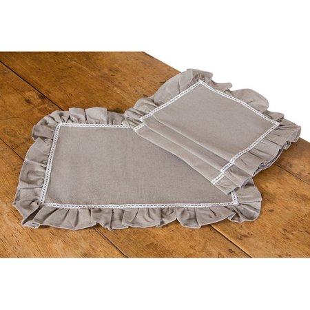 Xia Home Fashions Ruffle Trim 20'' Placemat (Set of