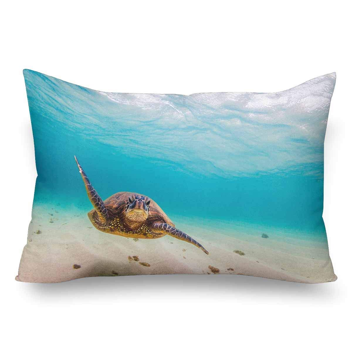 GCKG Hawaii Sea Turtle Fish Underwater Ocean Wave Beach Green Pillow Cases Pillowcase 20x30 inches - image 4 of 4