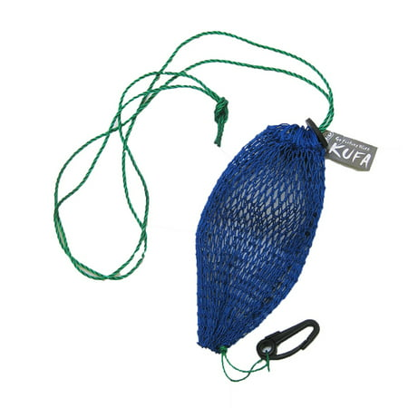 KUFA SPORTS Commercial Style Bait Bag with Rubber Locker & Hook, Blue, BAG4