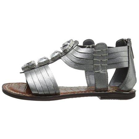 6c2e0f2e2ff4 Sam Edelman - Sam Edelman Girls Galina Zipper T-Strap Gladiator Sandals -  Walmart.com