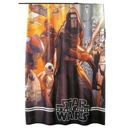 Star Wars The Force Awakens Fabric Shower Curtain