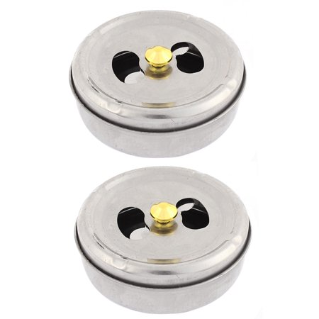 Home Car Cylinder Shaped Rotatable Lid  Holder Ashtray 113mm Dia 2pcs (113 Mm Spindle)