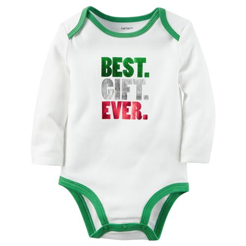 Carters Unisex 3-24 Months Best Gift Ever Christmas Bodysuit