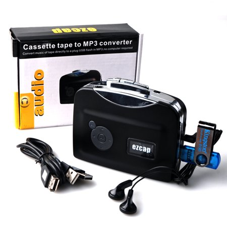Cassette Tape To MP3 CD Converter Via USB,  Compatible with Laptop and Personal Computer, Cassette-to-MP3