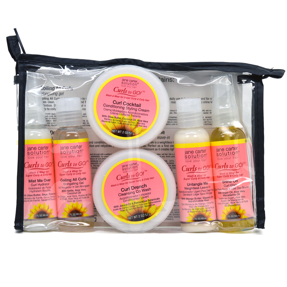 Jane Carter Curls to Go 6 Pack Travel Kit