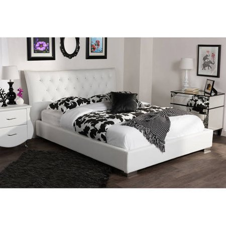 Baxton Studio Marina Modern And Contemporary White Faux