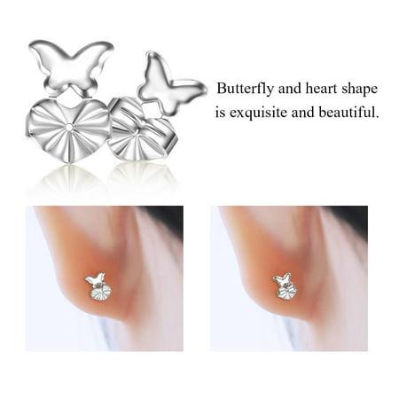 Hilitand 1 Pair Earrings Lift Earrings Back Nut Lifters Lift Copper Ear Lobe Support(Gold, Silver)