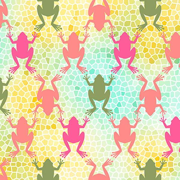Quilting Treasures Penelope Frogs Multi
