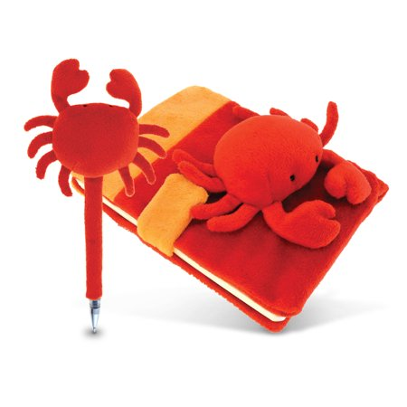 Plush Red Crab Notebook and Pen](Notebook And Pen)
