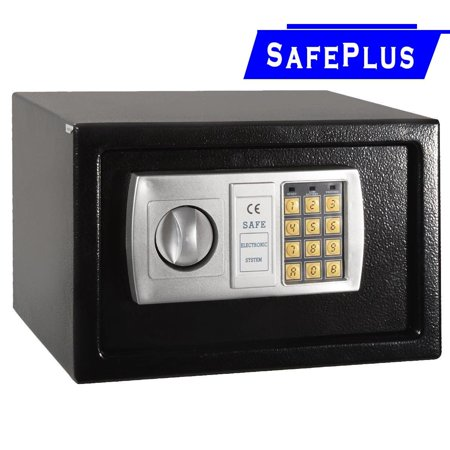 "12.5"" Electronic Digital Lock Keypad Safe Box Cash Jewelry Gun Safe Black New thumbnail"
