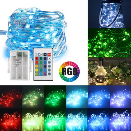 Color Changing Pencils (TSV 16ft 50LED Copper Battery Powered Multi Color Changing String Lights With)