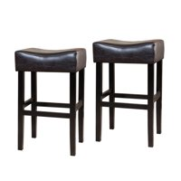 "Norman 30"" Backless Bar Stool, Set of 2, Brown"