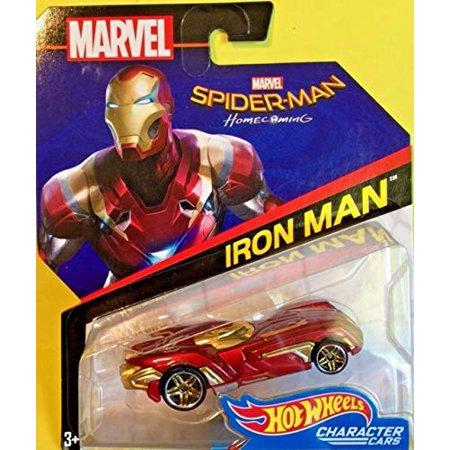 9063b1a4 Iron Man Hot Wheels Marvel Character Car (Spiderman: Homecoming Movie  version) - Walmart.com