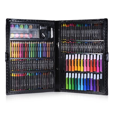 168pcs Drawing Pen Art Set Kit Painting Sketching Color Pencils Crayon Oil Pastel Water Color Glue with Case for Children - Oil Painting Set