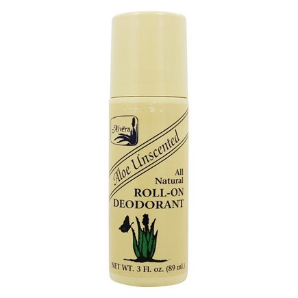 All Natural Roll-On Deodorant Aloe Unscented Unscented - 3 fl. oz. by Alvera (pack of (Alvera Aloe)