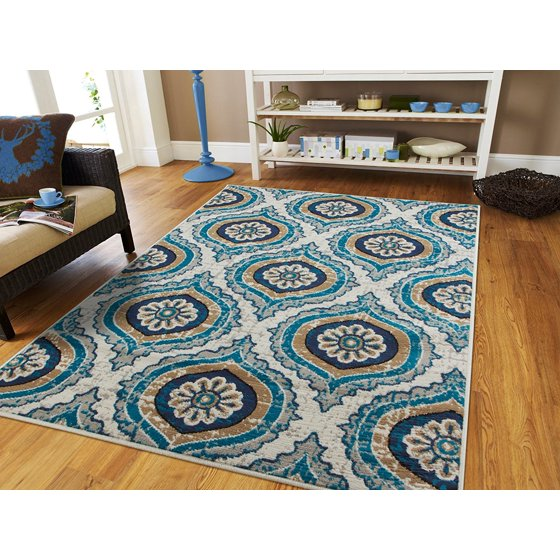Gray Area Rug 8x11: Century Rugs Blue Gray Area Rugs For Living Room 8x10