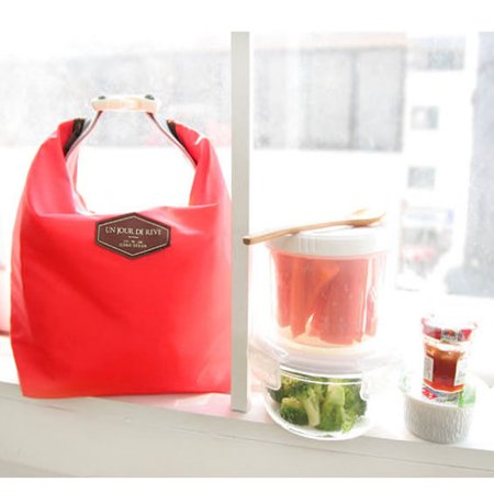 Tote Portable Insulated Pouch Cooler Waterproof Food Storage Bag Red
